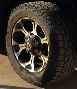 """20""""Fuel Dune RIMs and Duratracs (4 rims and 4 tires)"""
