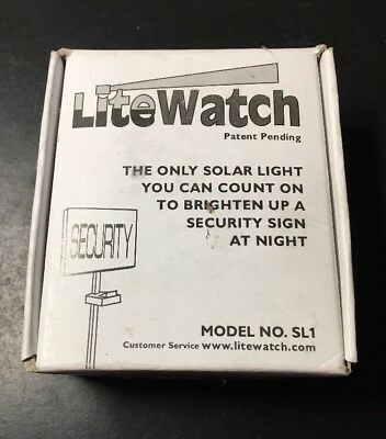 Sign light securityebay 1 new lite watch solar powered night light security addressyard sign led mod sl1 mozeypictures Images
