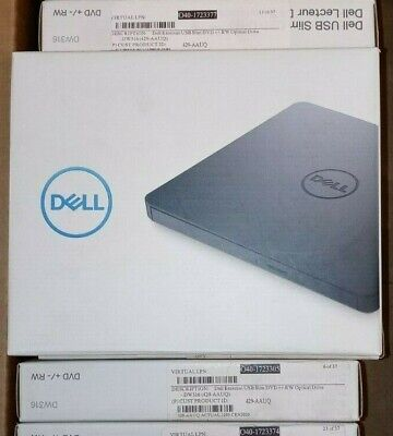 ***NEW ***SEALED - DELL DW316 EXTERNAL USB SLIM DRIVE DVD +/- RW***Free Shipping