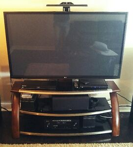 "60"" LG Plasma and full swivel media stand"