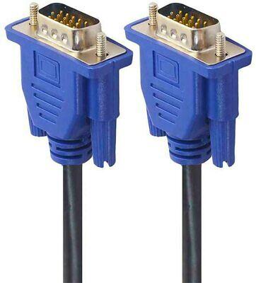 Cable VGA SVGA Alargador 1.5m para PC Monitor Pantalla 2x Macho DB15...