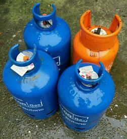 Gas Cylinders (3 x Calor, 1 x Supergas)