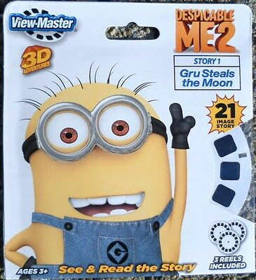 NEW ~ DESPICABLE ME2  ~ 3D VIEW-MASTER REELS ~ 3pk