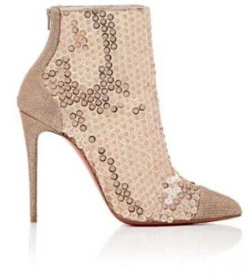 Christian Louboutin Gypsie Bootie Glitter Diamonds Paillette Size / 38.5 US