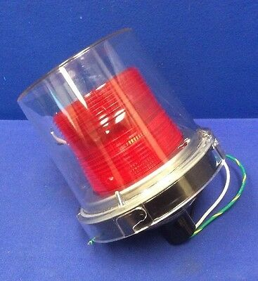 Federal 225xst Hazardous Warning Strobe Light Red Lens Nib