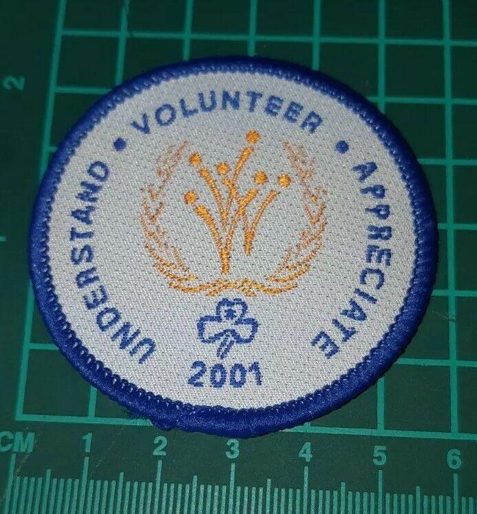 Understand Volunteer Appreciare 2001 Girl Guide Badge