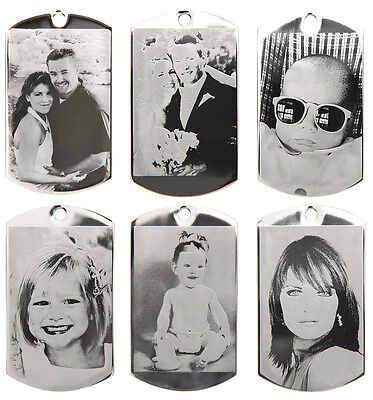 Personalized Black And White (CUSTOM MADE PERSONALIZED BLACK & WHITE PHOTO ETCHING DOG TAG PICTURE PENDANT )