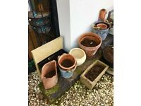 Plant pots and sleepers bundle