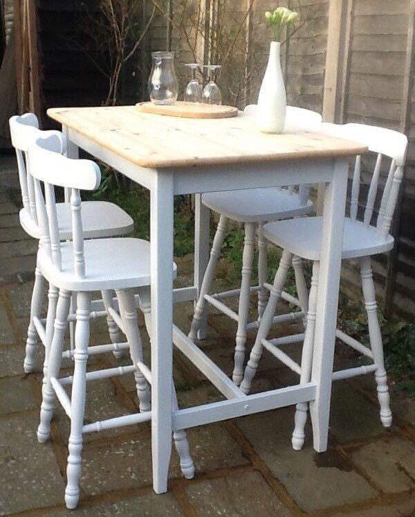 kitchen tall table  4 stools breakfast bar kitchen