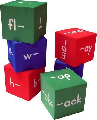 TCR 20633 Foam Word Family Cubes Reading Games Teaching Supplies  ()