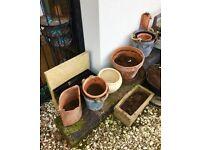 Plant pots and sleepers bundle