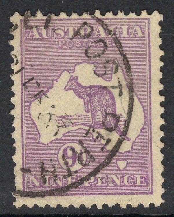 AUSTRALIA SG108 1929 9d VIOLET DIE IIB FINE USED