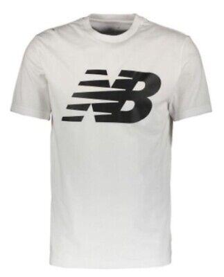 New Balance Mens Logo Graphic T-Shirt White Large L