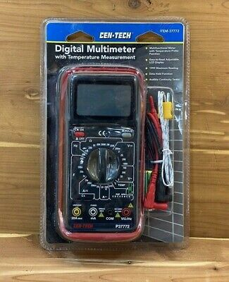 Cen-tech Digital Multimeter With Audible Continuity With Test Probes New