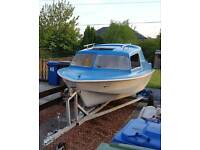 16 Foot Microplus 2 berth Boat 20HP outboard Trailer