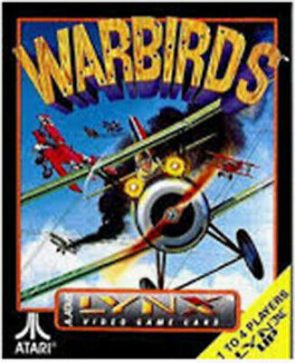 Atari Lynx Warbirds Cartridge With Original Box, Copied Manual Only 2 Left