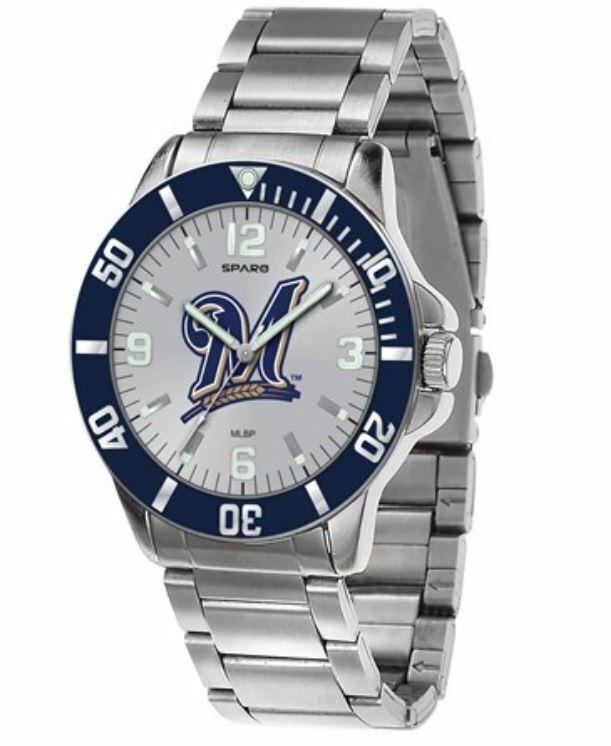 MLB Milwaukee Brewers Men's LogoArt Stainless Steel WRIST WA