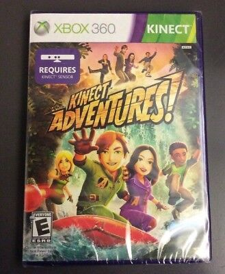 Kinect Adventures Microsoft Xbox 360 Video Game Sealed Kinect Sensor Required  (Video Kinect)