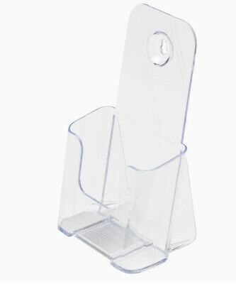 2 Acrylic Single Compartment Pamphlet Brochure Holder Stand Deflector 7