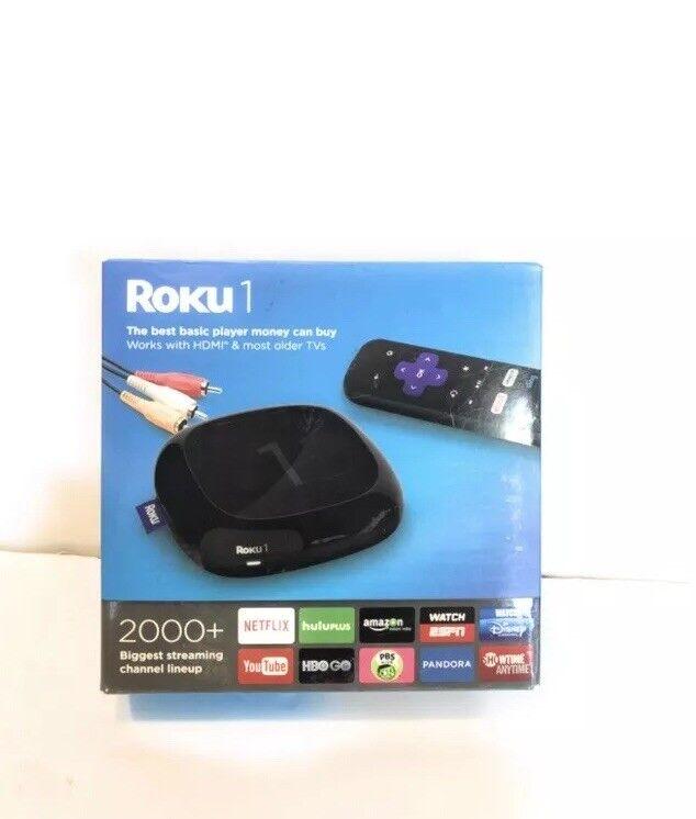 Roku 1 Streaming Player Black 2710R