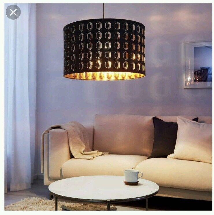 Ikea Nymo Ceiling Lamp Shade Black Copper In Elderslie Renfrewshire Gumtree