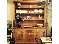 Solid oak vintage kitchen dresser