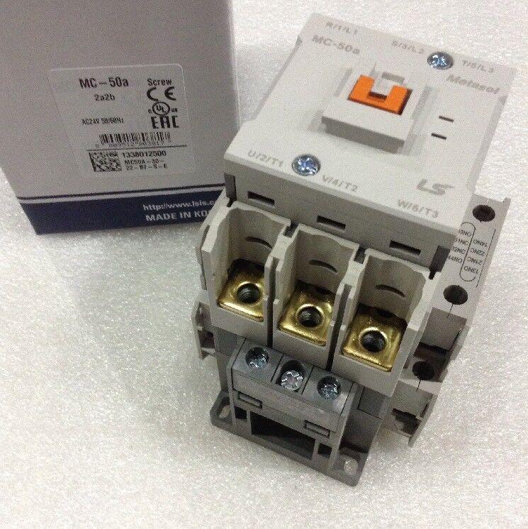 LS Metasol Contactor MC-050a / 3-024 Screw 3 P 70A AC1 24vac Coil NEW!!!