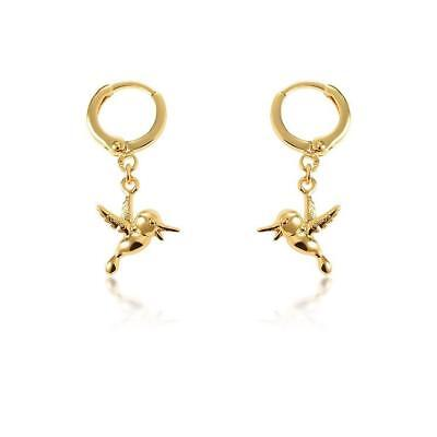 - DISNEY Couture Kingdom Pocahontas Flit Earrings Y Gold Plated RRP $39 DYE370