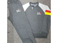 Charcoal Grey & LT Grey Jogging Tracksuit Brand New