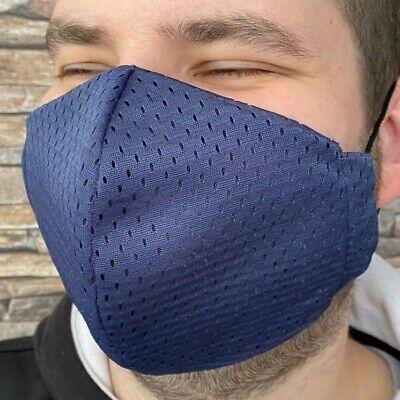 XL Coolmax® Mesh Arbeitsmaske 8⏱ Mundschutz maske blau atmungsaktiv ventil sport