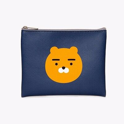 [KAKAO FRIENDS] Kakao Talk Character RYAN Synthetic Leather Pouch +Tracking