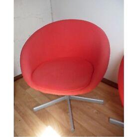 Red ikea swivel chair £15 ono
