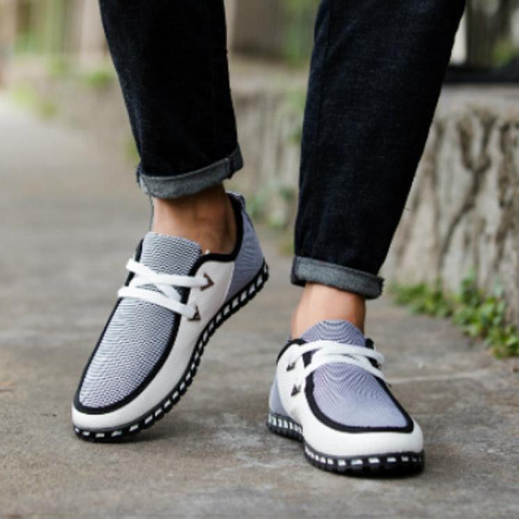 Man Autumn Shoes Breathable Shoes Light Lazy Driving Shoes Leisure Peas Shoes