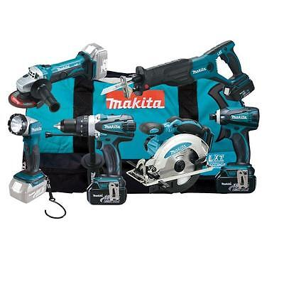 Akku Maschinen Set Makita DLX6011 (3x Li-Ion Akku 18V/3,0Ah) Bohrschrauber Säge