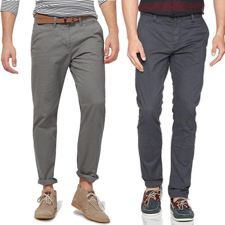 Detalles de Tom Tailor Hombre Chino Pantalón de tela Travis regular slim fit Con