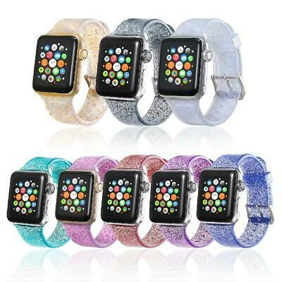 Sports Band Strap Glitter Bling Bracelet for Apple Watch iWatch Series (Band Bling Watch)
