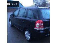 Vauxhall Zafira 1.9 Automatic Diesel TDI 7 Seater Black Car