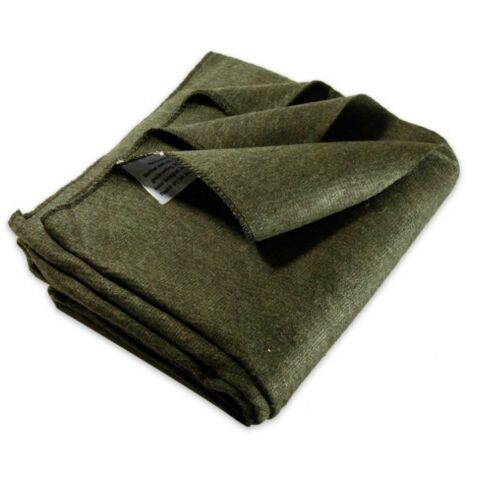 Military Surplus Large Olive Drab Green Wool Blanket Free Shipping