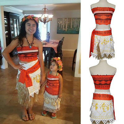 Anime Kawaii Moana Fancy Dress Holiday Party Halloween Cosplay Costume Kid#Adult](Holiday Party Costumes)