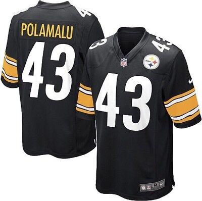 New Nike Pittsburgh Steelers Troy Polamalu NFL Shirt Jersey mens