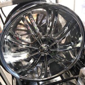 "Pinnacle Turbo 20x8.5 Wheel NEW 20"" Chrome Rim"