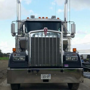 2009 kenworth silver transport truck for sale