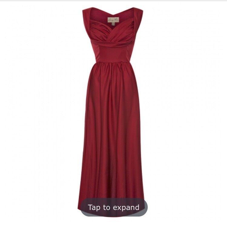 Red floor length dress size 12