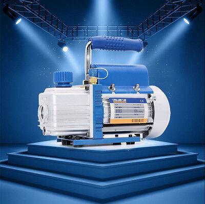 220v 3.15 Cfm 90lmin Rotary Vane Vacuum Pump 180w Hvac Ac Refrigerant Air