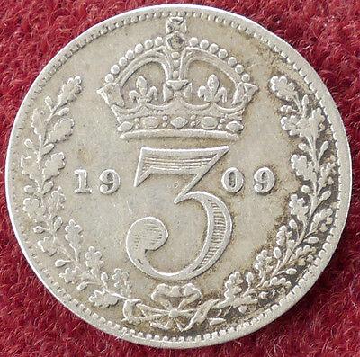 GB Threepence 1909 (D0804)