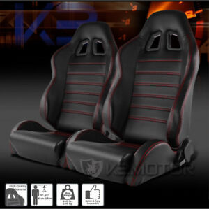 2 pairs of black and red stitching racing seats ( brand new )