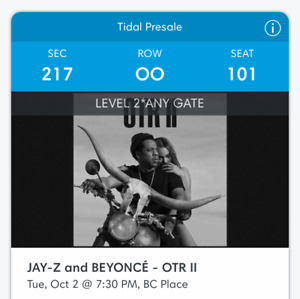 Beyonce and Jay-Z: OTR2 Ticket