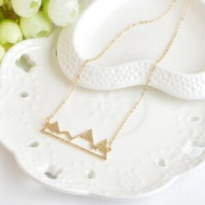 Brand new mountain necklace!