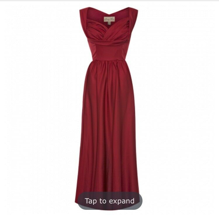 Red floor length dress size 18