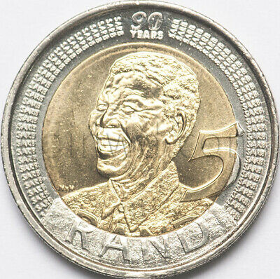 South Africa 5 rand 2008 90th anniversary of Nelson Mandela (#5691) for sale  Shipping to South Africa